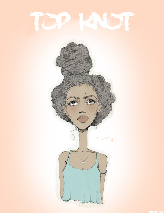 Natural Hair illustration By  Nia Perry