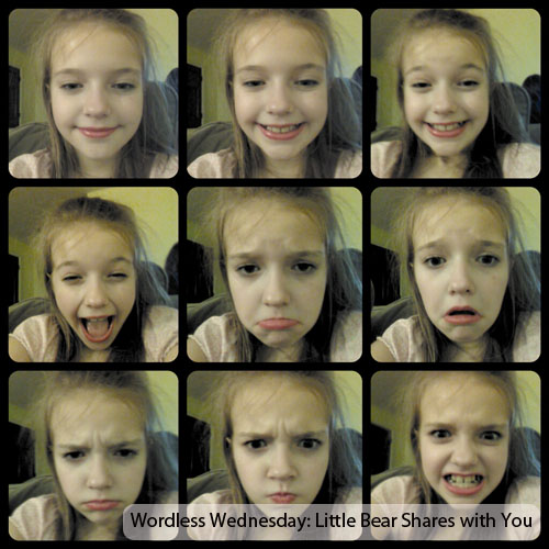 This 9-year-old little girl has created a photo collage depicting the mood cycle of bipolar disorder. www.HeartofMichelle.com