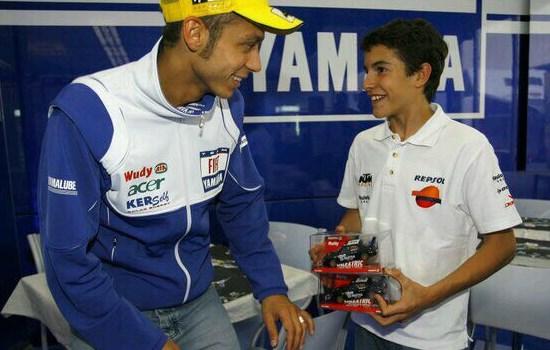 Valentino Rossi Bareng Marc Marquez