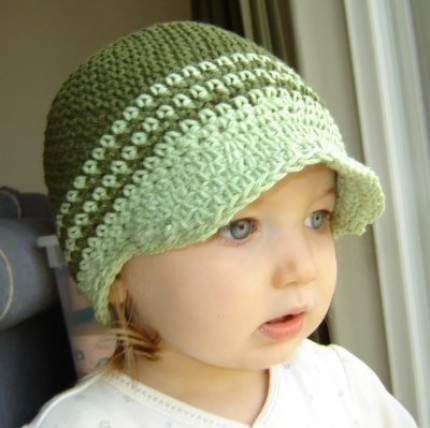 Free Baby Crochet Hat Patterns With Brim : free crochet patterns-Knitting Gallery