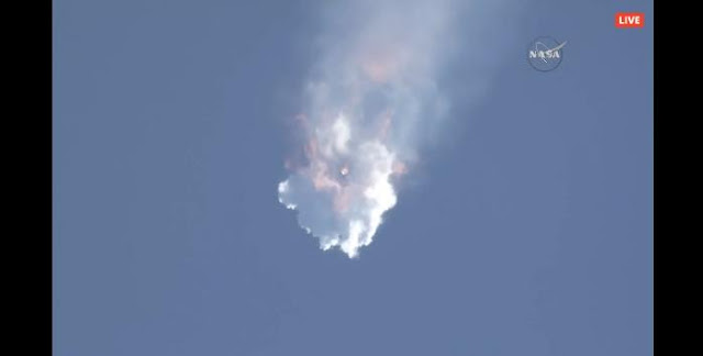 SpaceX's Falcon 9 explodes shortly after the launch on June 28, 2015. Credit: SpaceX/NASA