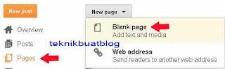 letak pages pada blog