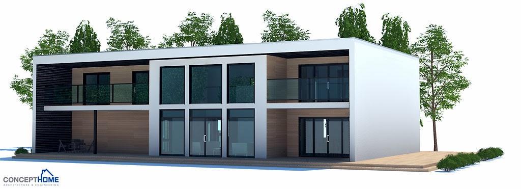 Plantas de casas modernas planta de casa moderna ch203 for Casa moderna 2 plantas