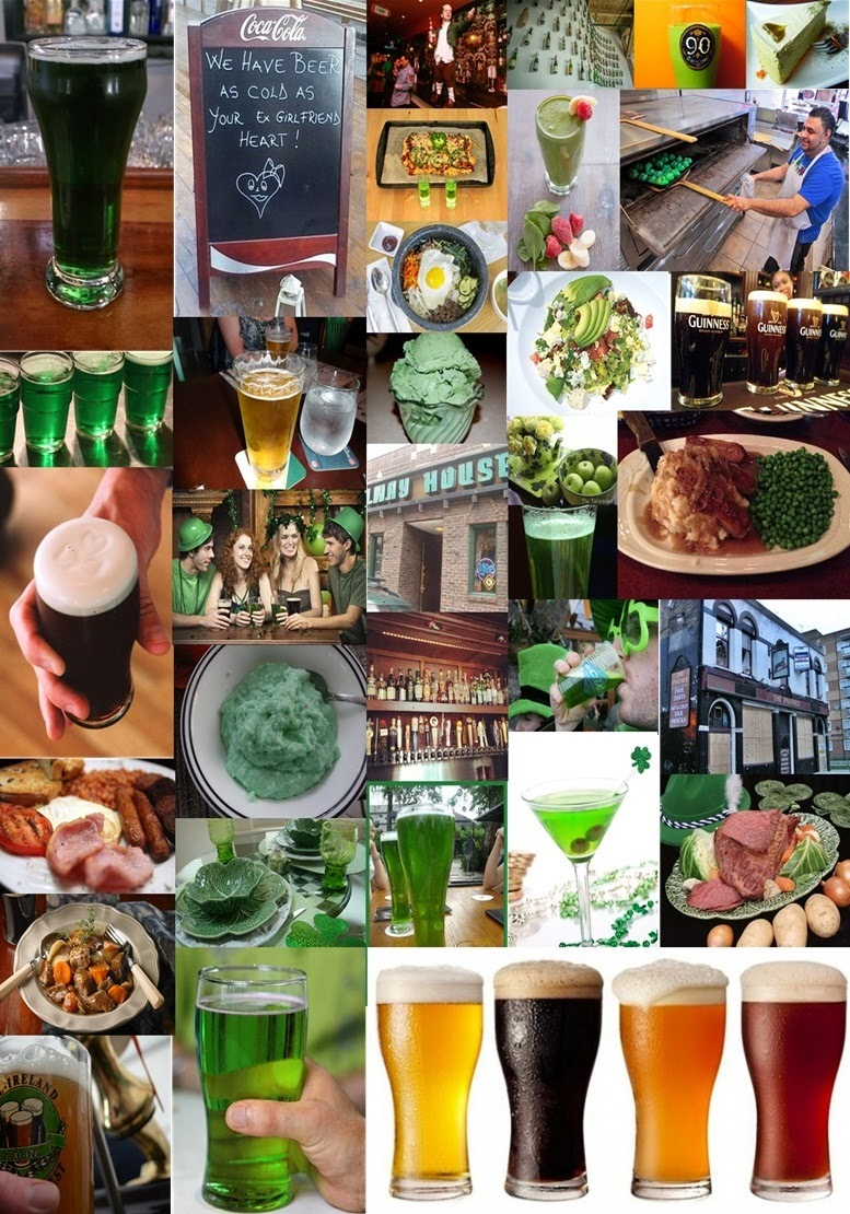 Frases De st-st patrick-saint patrick: Happy St Patricks Day Bars Pubs And Restaurants Offer Dyed Green Beer
