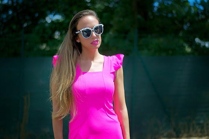 occhiali da sole perle