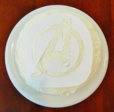 The Avengers Birthday Party Sprinkle Cake...takes minutes to make!
