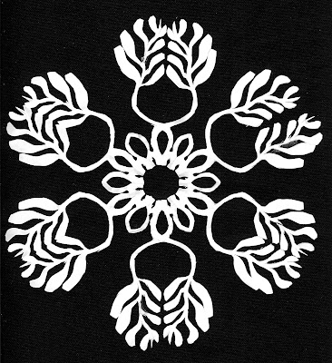 Medallion, Matisse, foliage, Sarah Myers, S. Myers, cut paper, cut-out, design, art, repeat, snowflake, modern, contrast, white, arte