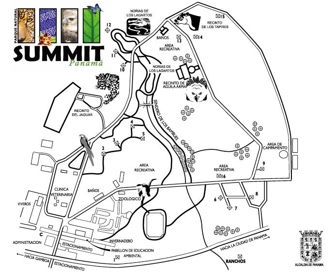 mapa parque summit
