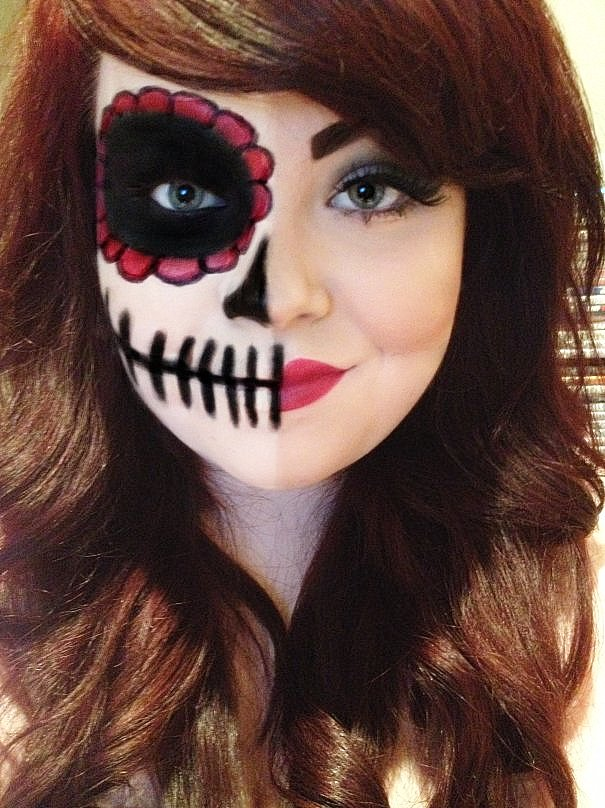 halloween Skeleton adult face costume paint