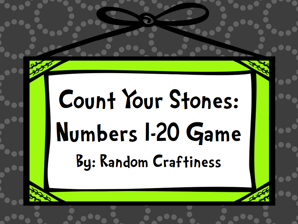 http://www.teacherspayteachers.com/Product/Count-Your-Stones-Numbers-1-20-Game-1044096