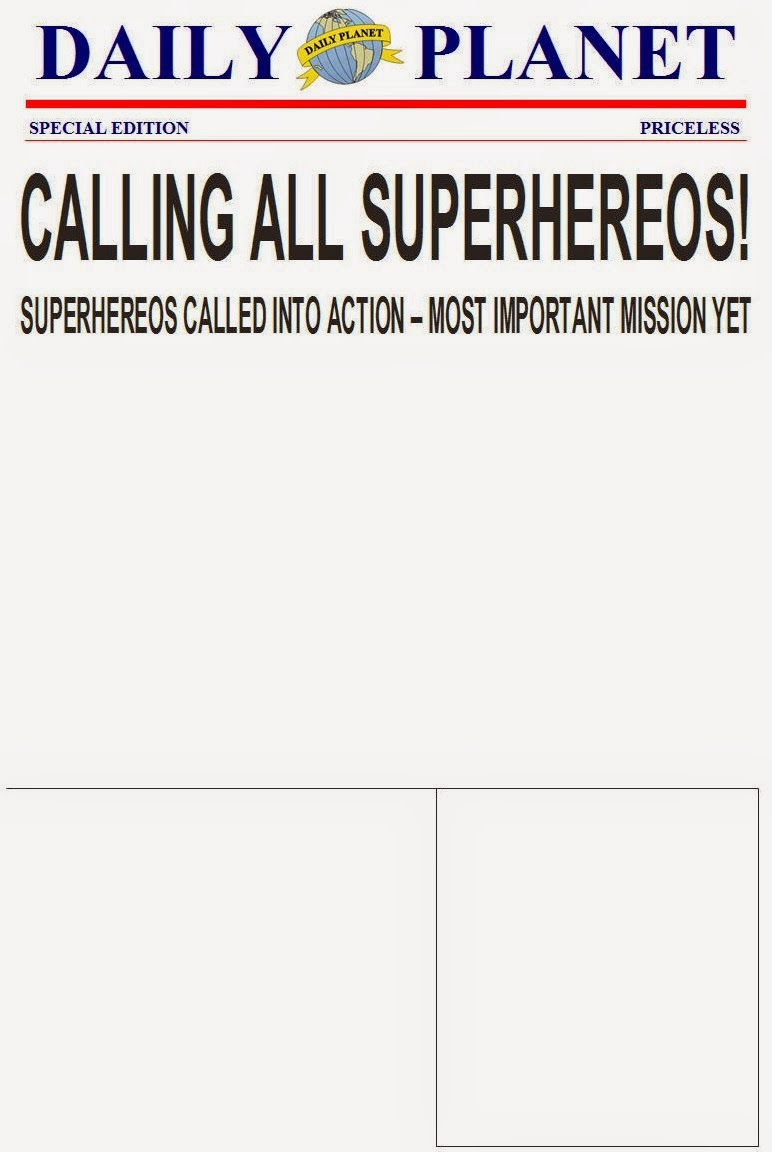 The purple patch superhero birthday printing on regular copy paper gave this invitation a more authentic newspaper feel be sure to age the page with our photo editing software first though stopboris Choice Image