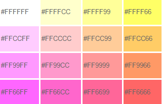 kumpulan kode warna