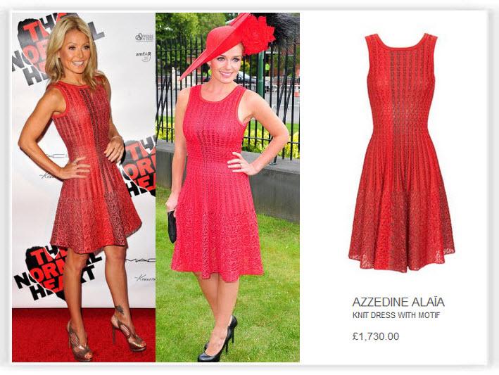 Celebrity dress copies cheap