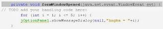 membuat program menggunakan fungsi For