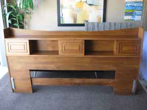 mad for mid century broyhill sculptra king size headboard for sale. Black Bedroom Furniture Sets. Home Design Ideas