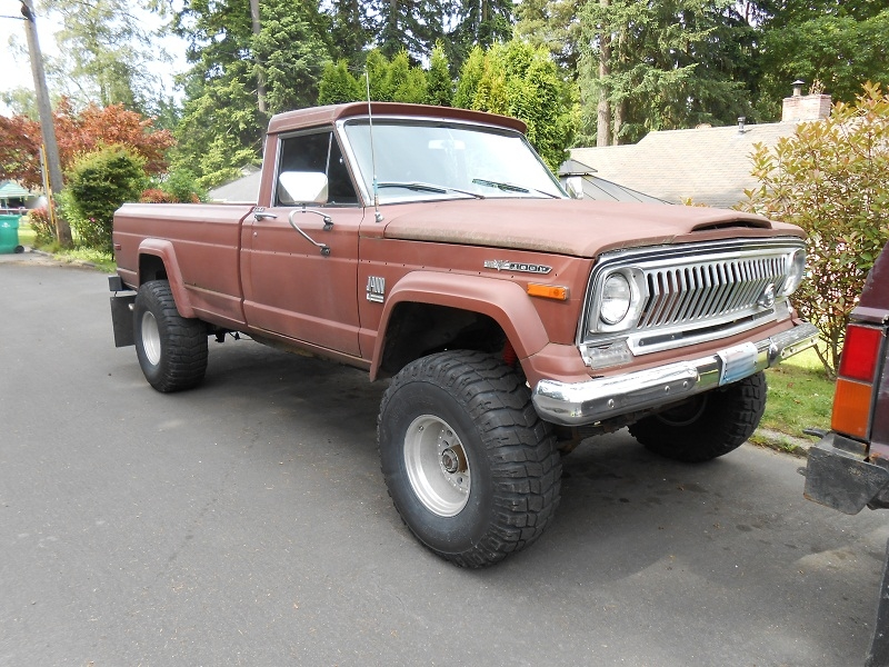 Seattle S Parked Cars 1972 Jeep J4000 Pickup