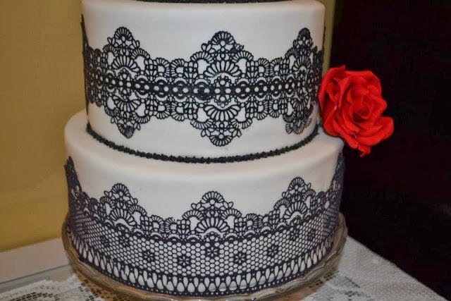 sugar veil sugarveil encaje de azucar teñido en negro decora