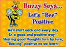 "Don't be like ""Bossy Bee"", be like ""Buzzy Bee"""
