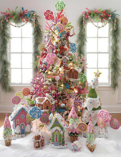 Pinkhoneybeee delicious christmas tree decorating ideas for Christmas tree color schemes