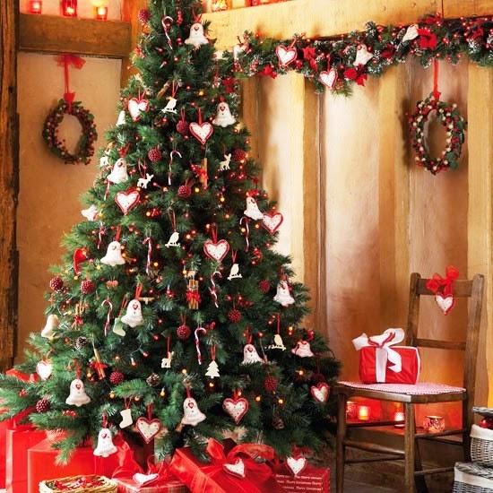 lindo arbol navideños colores