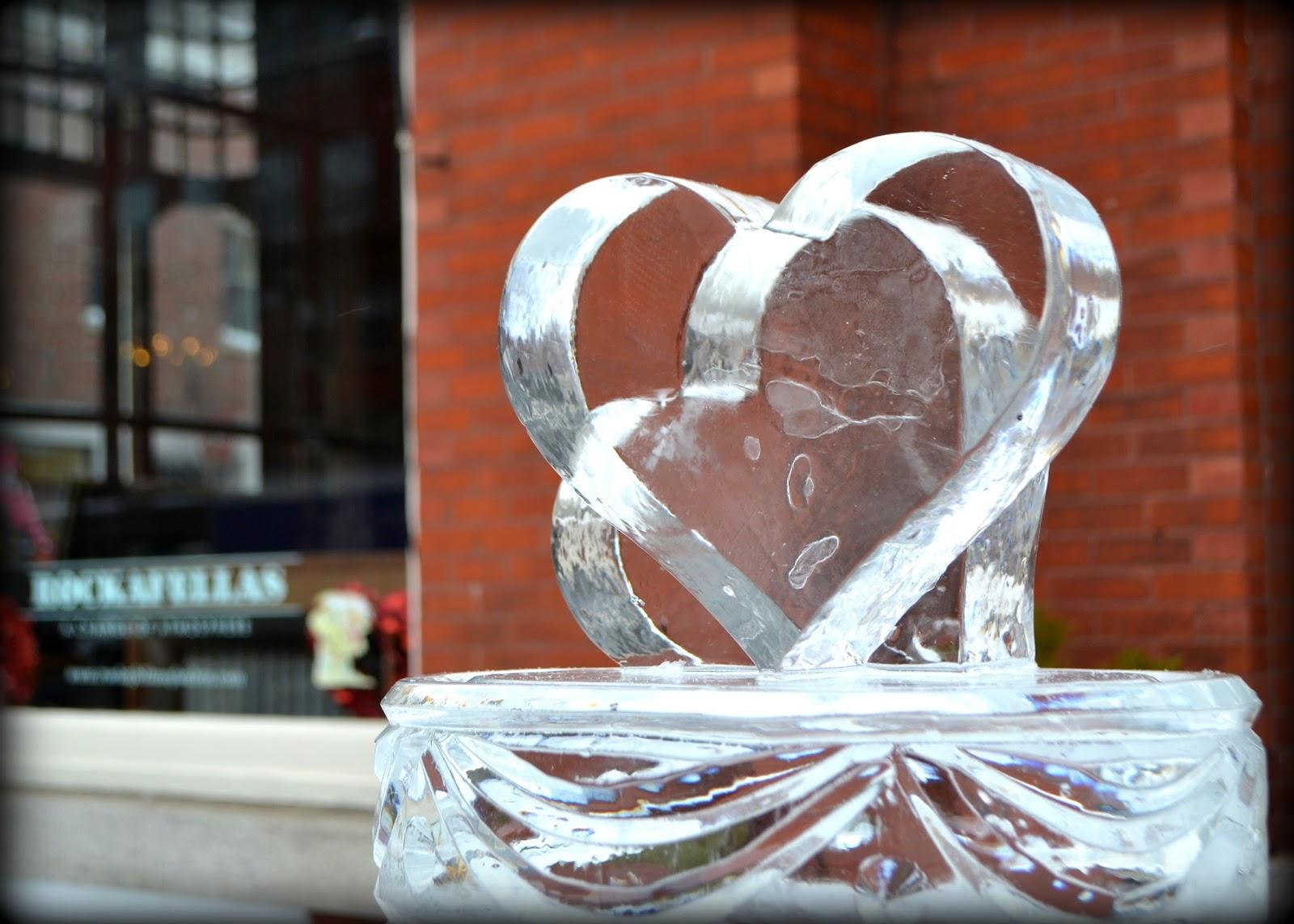 cold, heart, ice, sculpture, ice sculpture, frozen, winterfest, salem, Salem  Massachusetts,