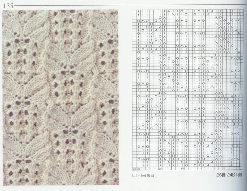 Вязание на спицах японских ажуров 193
