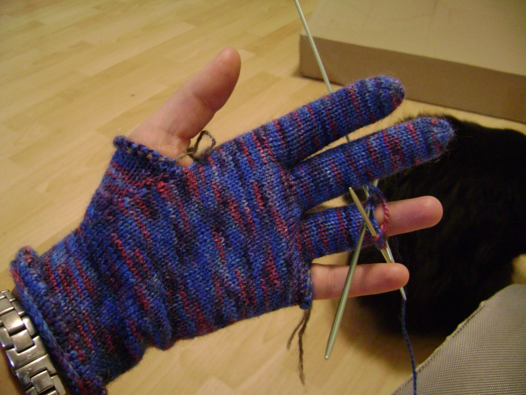 Перчатки трикотажные своими руками 79