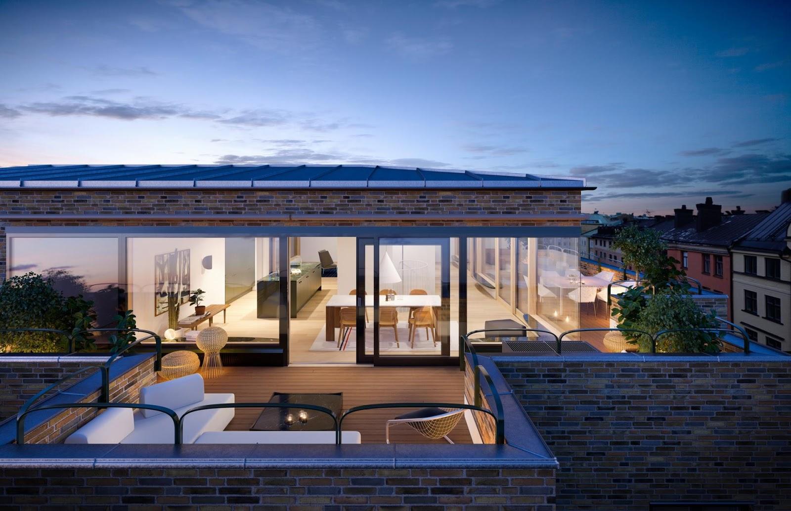 Edificio residenziale con appartamenti ed attici a for Case di vetro di lusso