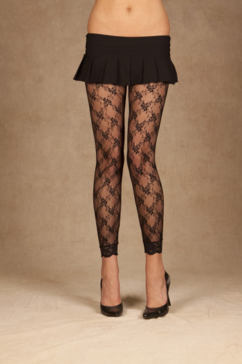 plus size footless tights