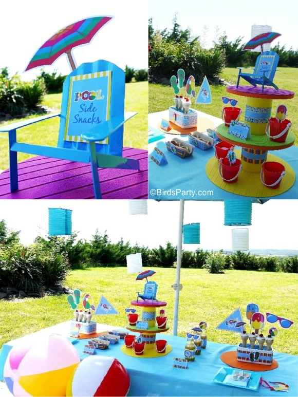 Pool Birthday Party Ideas with Printables