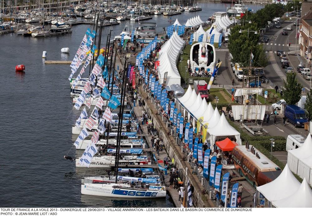 Le Tour de France à la Voile à Dunkerque.