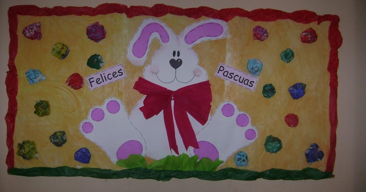 Decoraci n en el jard n de infantes en pascuas for Decoracion jardin infantes