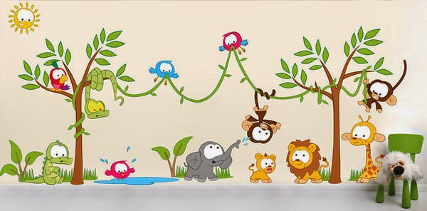 these are creative wall decors for kids room wall decors for kids class room kids study room wall pictures kids feel happy while seeing this jungle - Kids Room Wall Decor Ideas