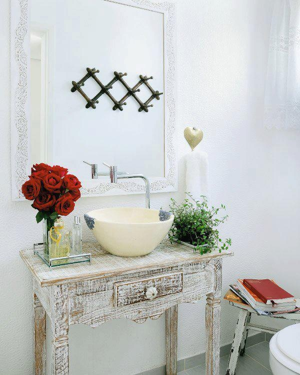 decoracao no lavabo : decoracao no lavabo:Flores e plantas no banheiro ou lavabo – Jeito de Casa – Blog de