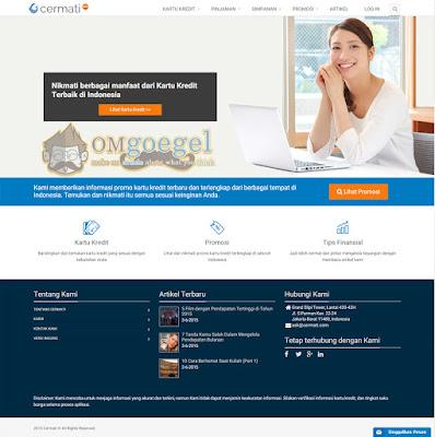 Cermati.com - Tampilan Utama Situs