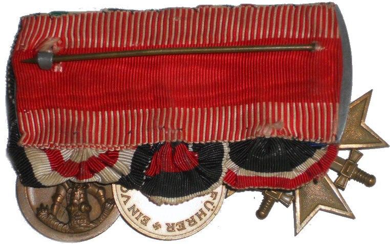 Cruz de hierro y medalla sudetes