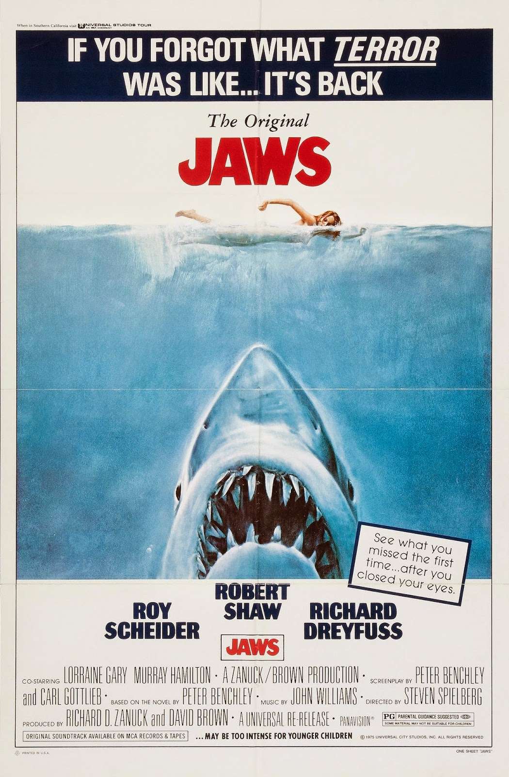 fear and terror in jaws a film by steven spielberg When making the film jaws steven spielberg had to face the challenging is jaws a horror movie imagine the terror in order to maximise the fear.