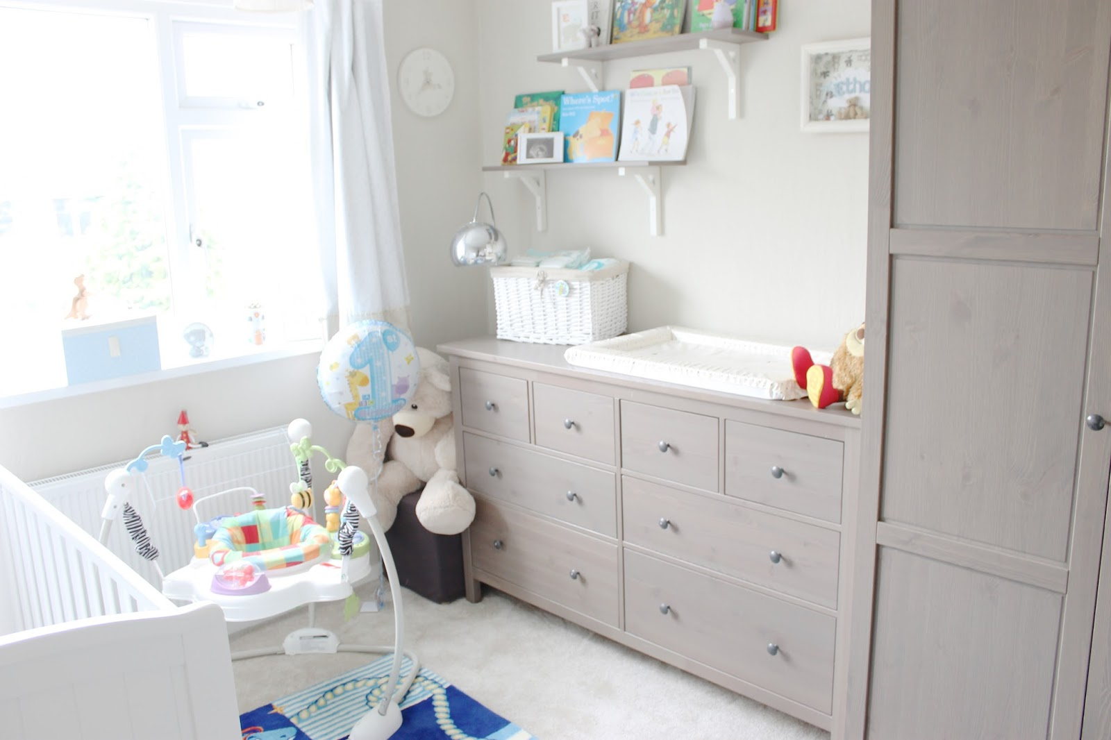 , neutral nursery, nursery inspiration, grey-brown hemnes ikea, baby ...