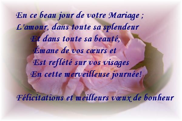 carte et texte flicitation de mariage gratuit imprimer - Texte Felicitations Mariage