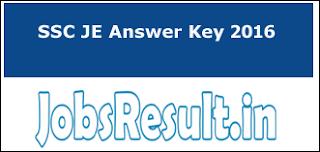 SSC JE Answer Key 2016