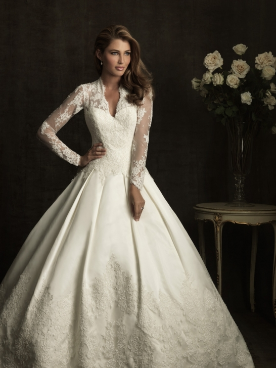 Unique Lace Wedding Dresses : Wedding dresses charmeuse empire v neck cap sleeves dress