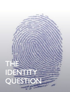 the identity question, finger print with that text