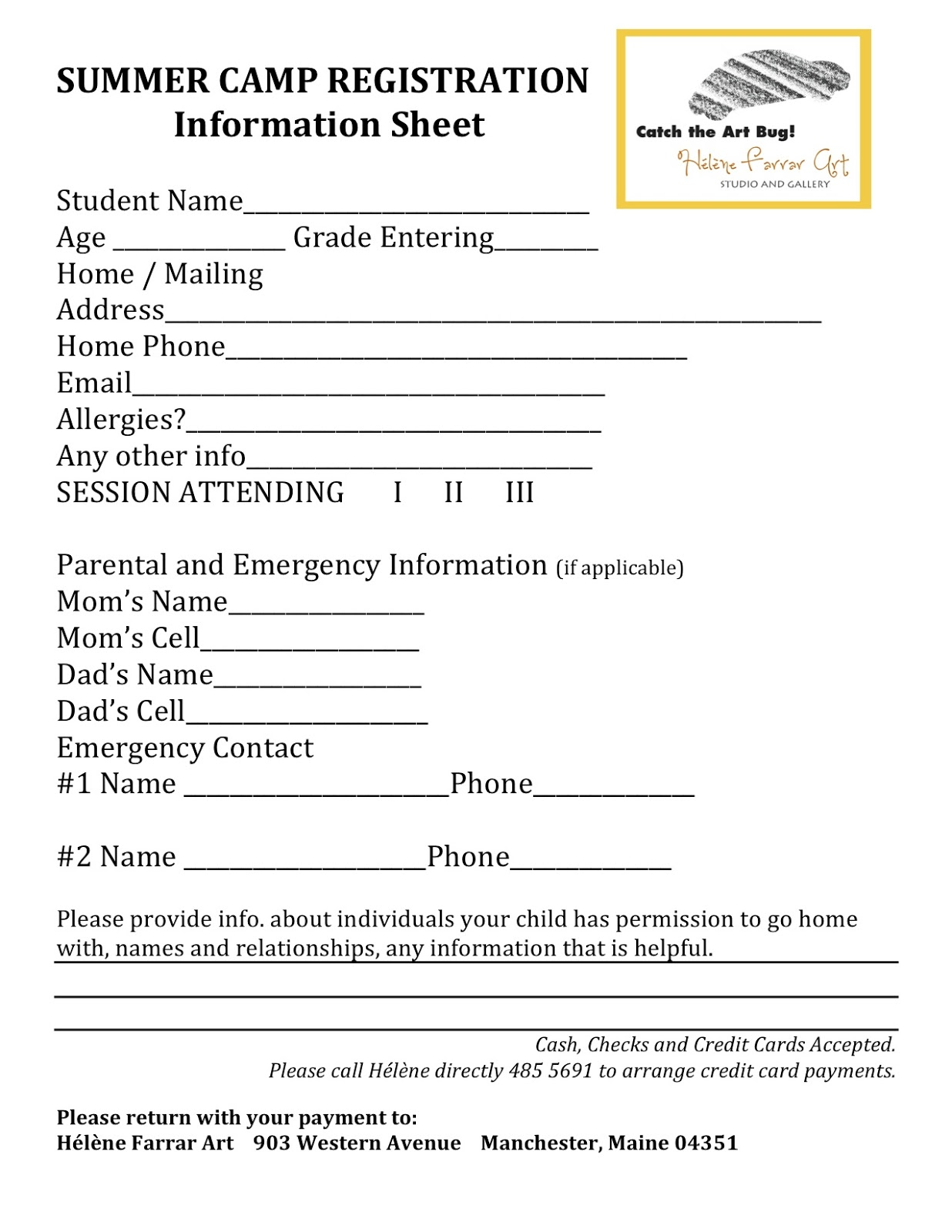 drawing entry form template