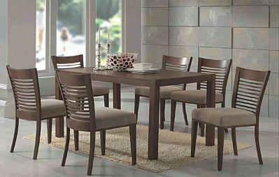 Muebles modernos de comedor de madera for Modelos de mesas de comedor de madera