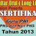 LongList Sertifikasi Guru PAI Tahun 2013