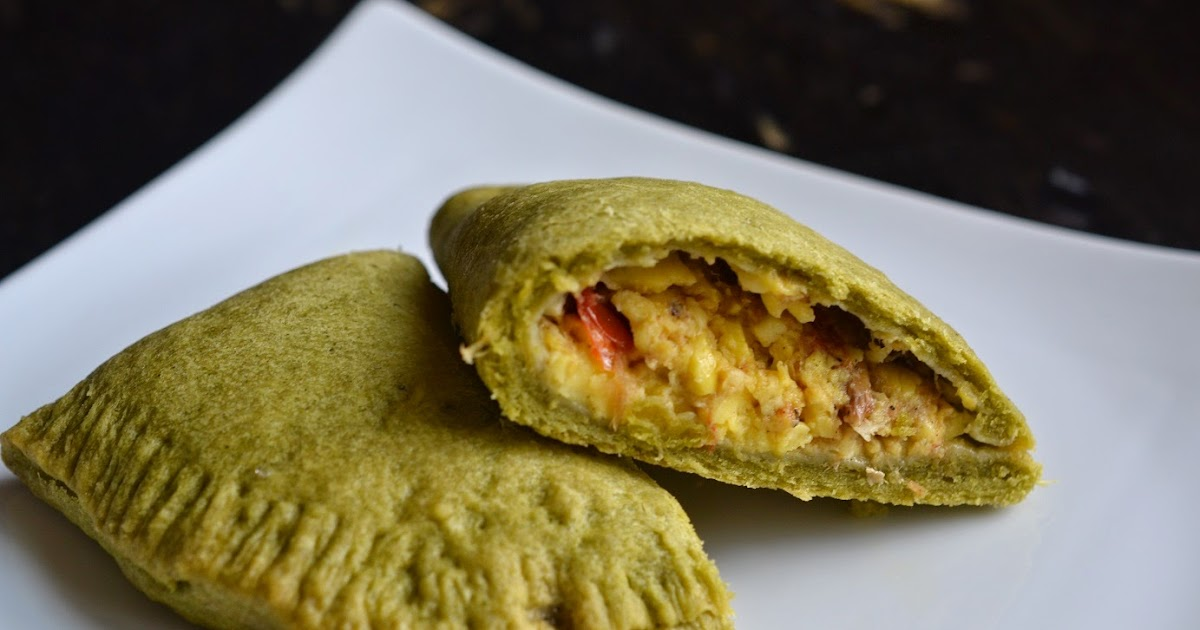 Greedy girl ackee and saltfish patty in a callaloo crust for Salt fish ackee
