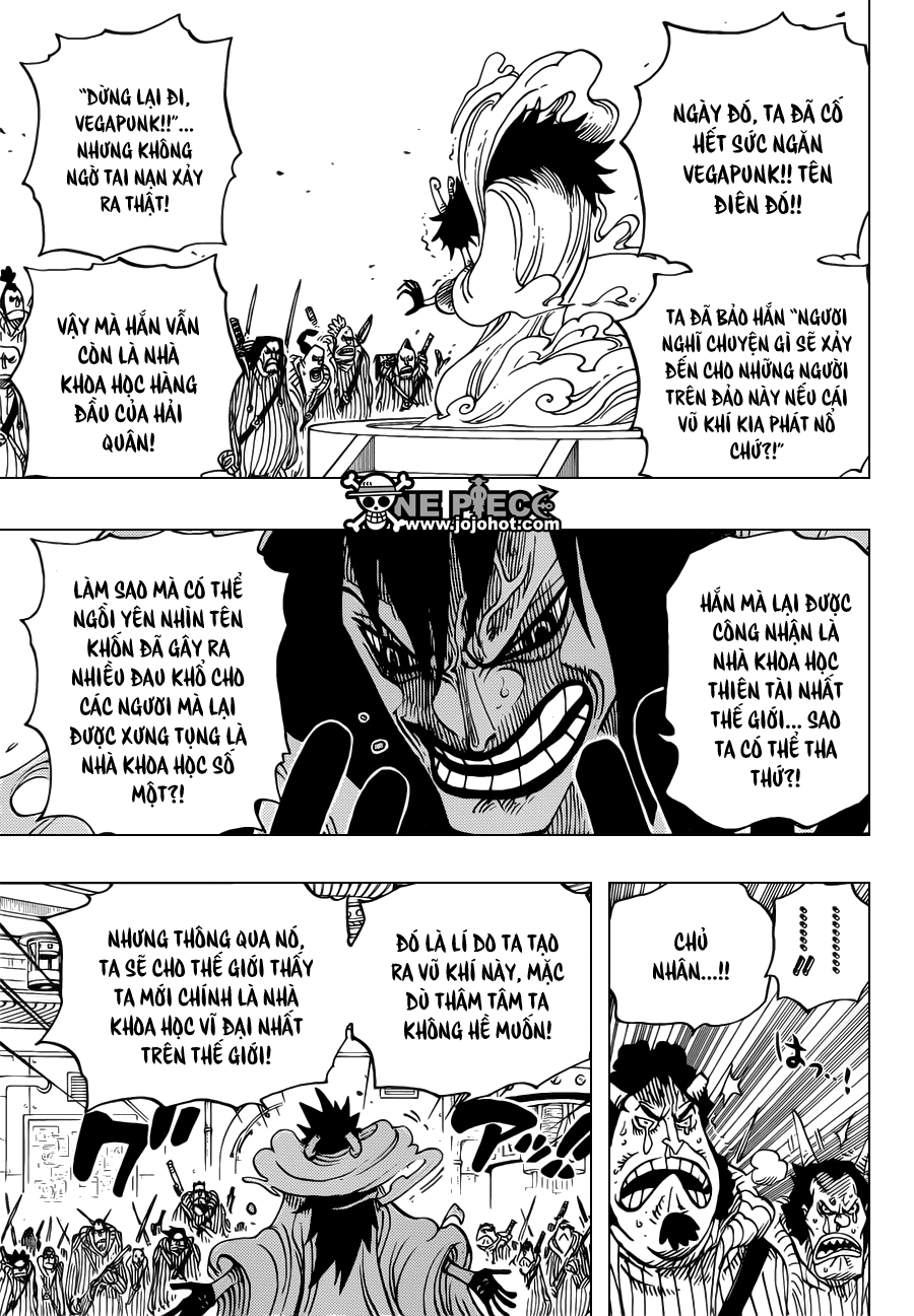 """One Piece Chapter 684: """"Dừng lại, Vegapunk!"""" 015"""