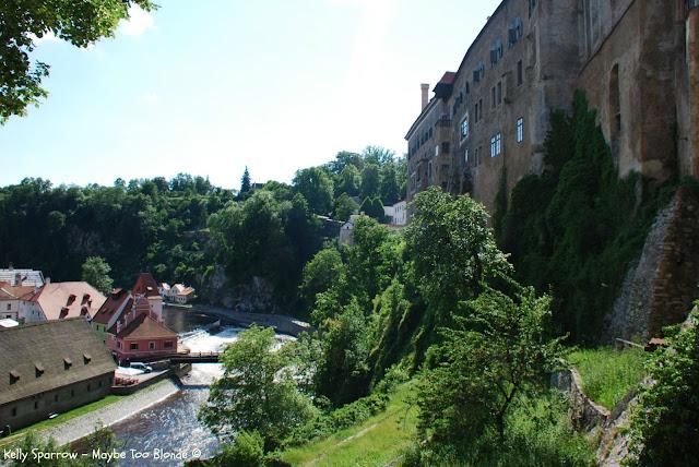 Castle at Cesky Krumlov Czech Republic - Vltava River