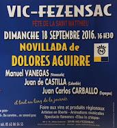 Manolo Vanegas anunciado en Vic-Fezensac, el 18/09.
