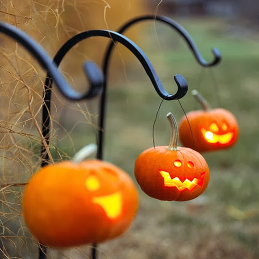 DIY Halloween ideas pumpkin lighting